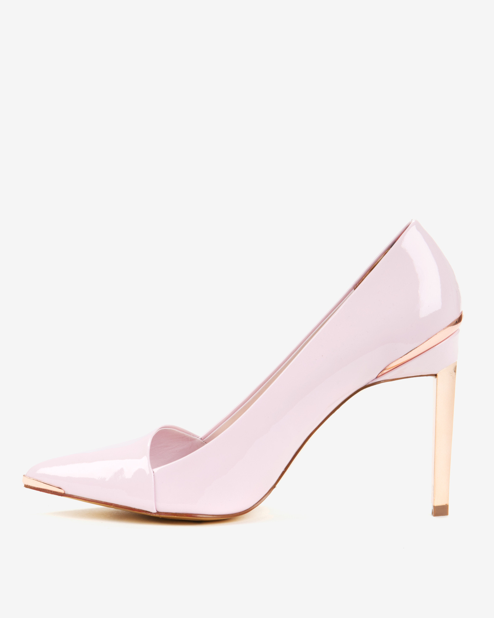 77fb09e27df3f Ted Baker Pointed High Top Court Shoes in Pink - Lyst