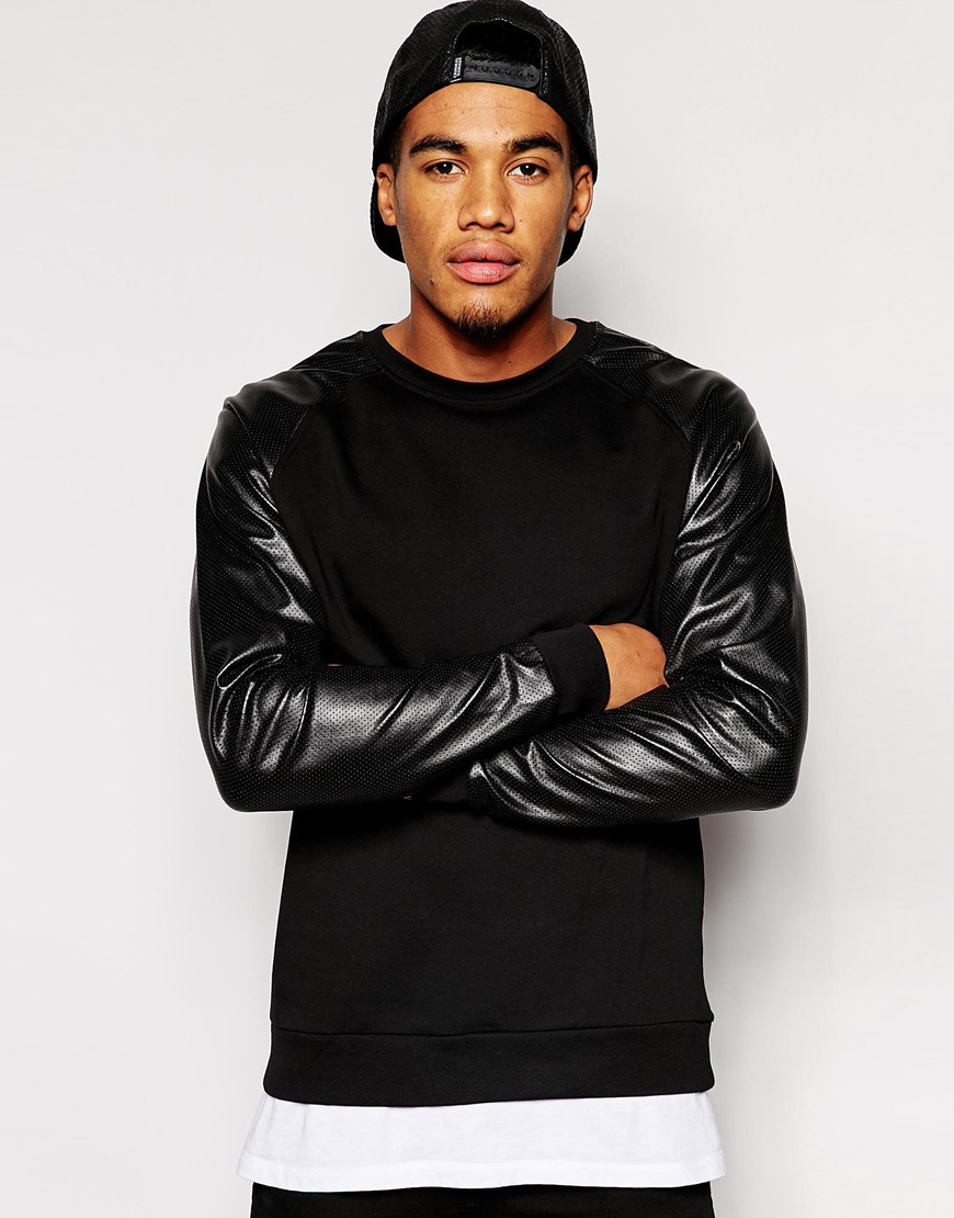 Find mens leather sweater sleeve at ShopStyle. Shop the latest collection of mens leather sweater sleeve from the most popular stores - all in one.