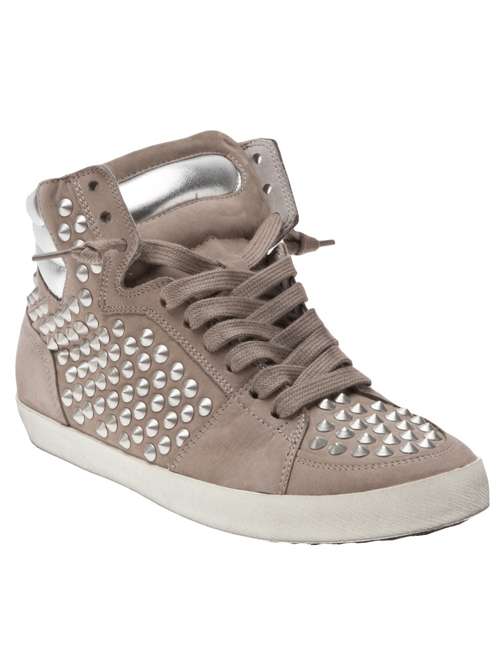 kennel schmenger metro leather sneakers in gray lyst. Black Bedroom Furniture Sets. Home Design Ideas