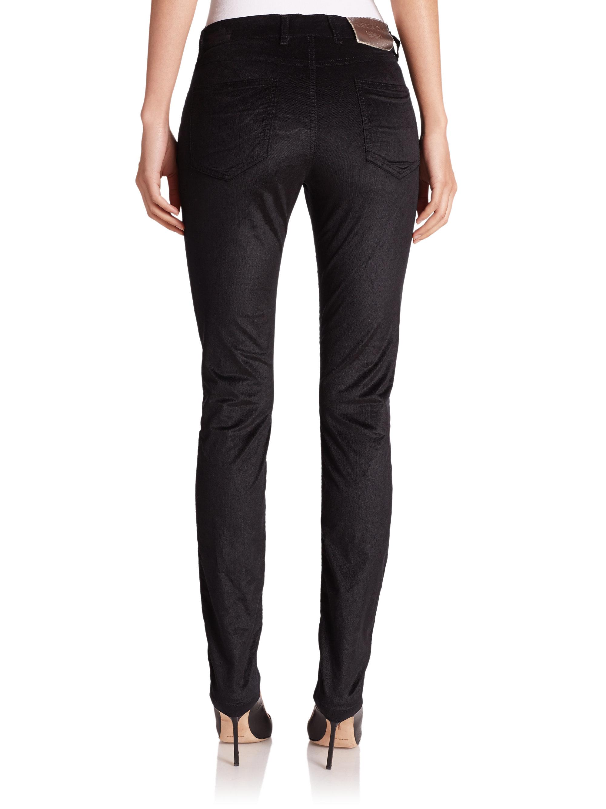 Lyst - Escada Velvet Corduroy Jeans in Black