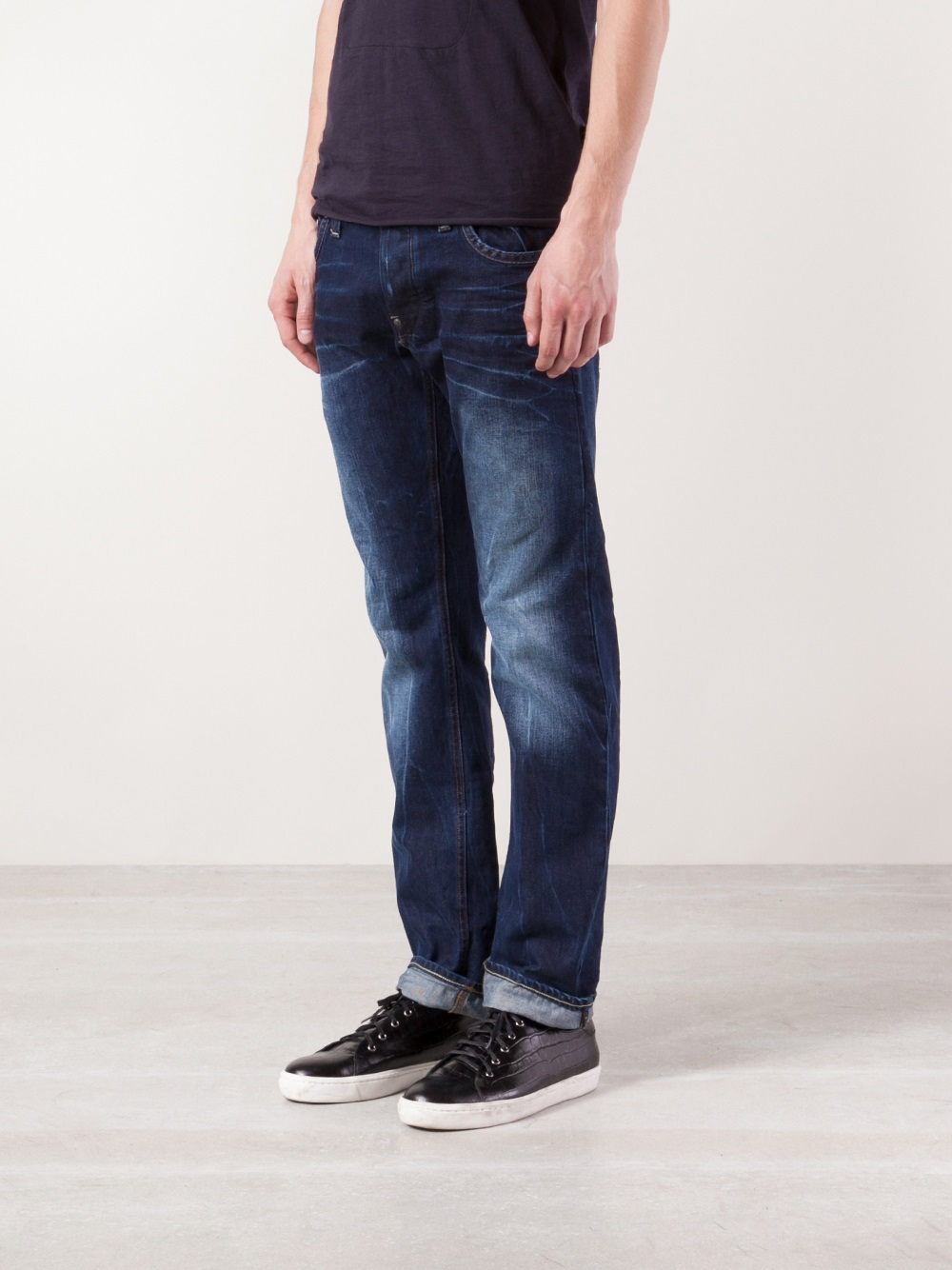 lyst g star raw wisk attacc low straight leg jeans in blue for men. Black Bedroom Furniture Sets. Home Design Ideas