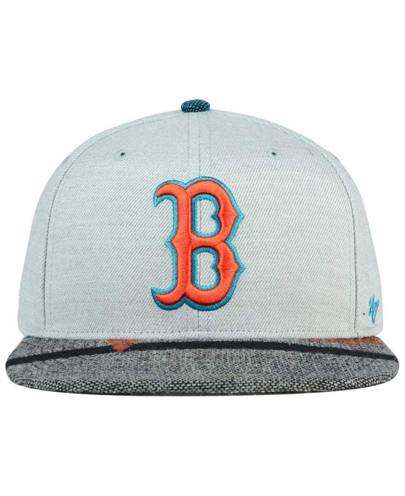 d576ec60059ab Lyst - 47 Brand Boston Red Sox Armadillo Snapback Cap in Gray for Men