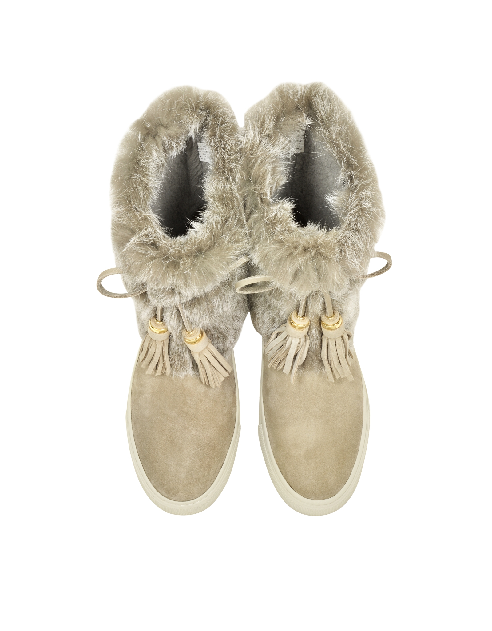 52ee9e6c505d Lyst - Tory Burch Anjelica Dark Knot Suede And Rabbit Fur Boots in Green