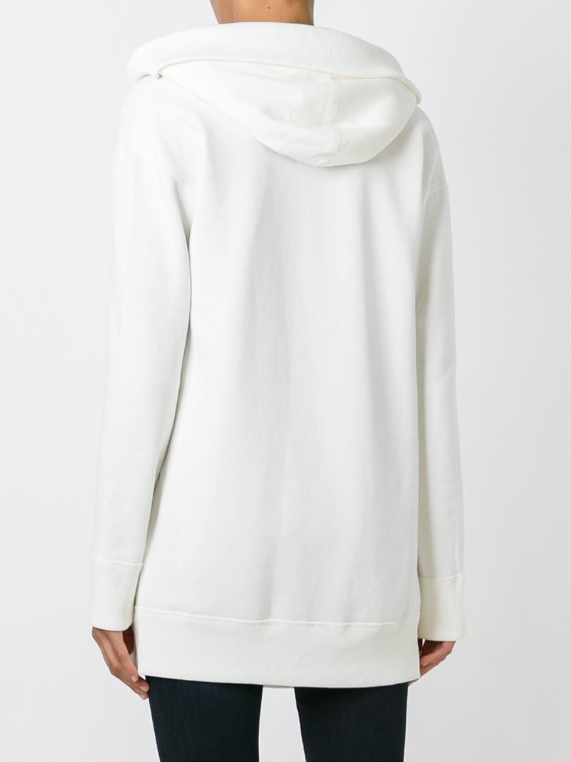 polo ralph lauren open front hoodie in white lyst. Black Bedroom Furniture Sets. Home Design Ideas