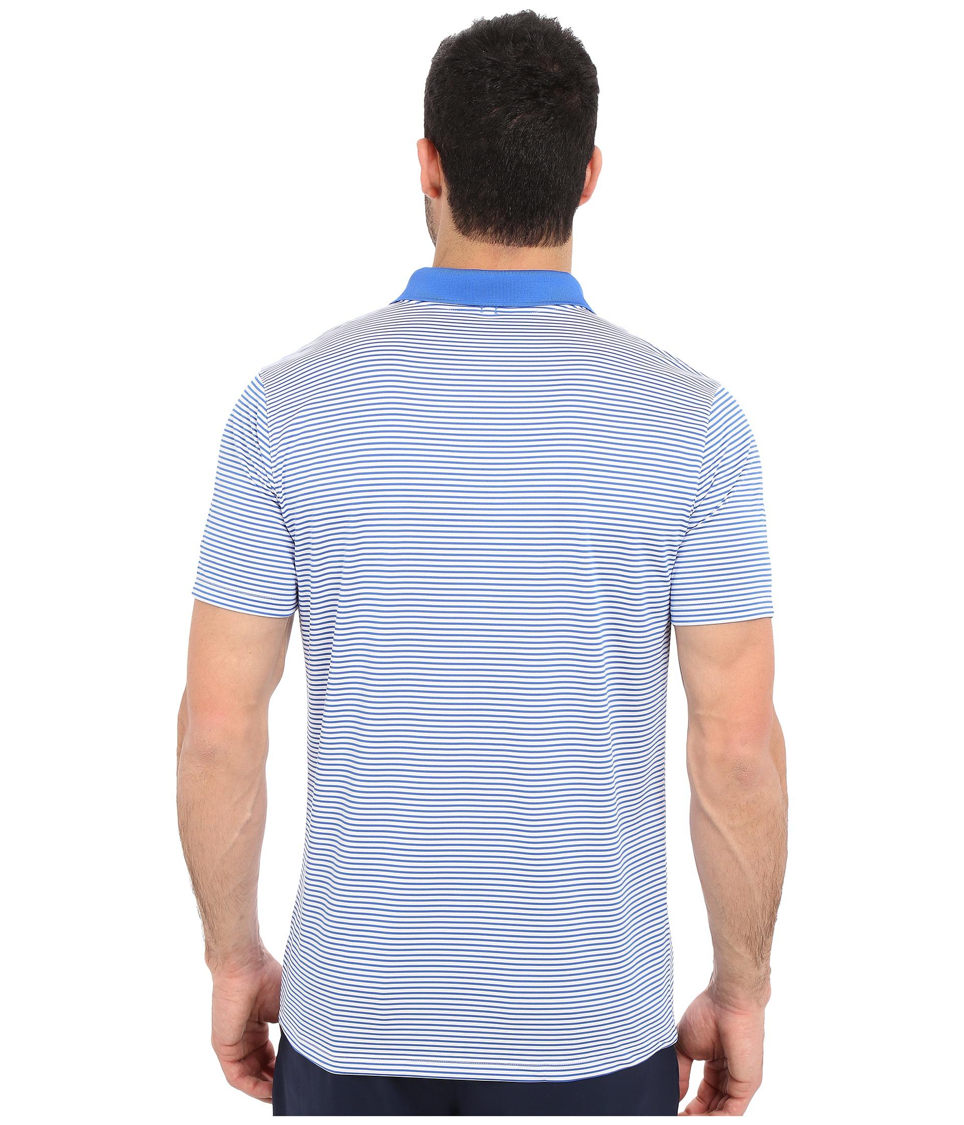 d957574cb Lyst - Nike Victory Mini Stripe Polo in Blue for Men