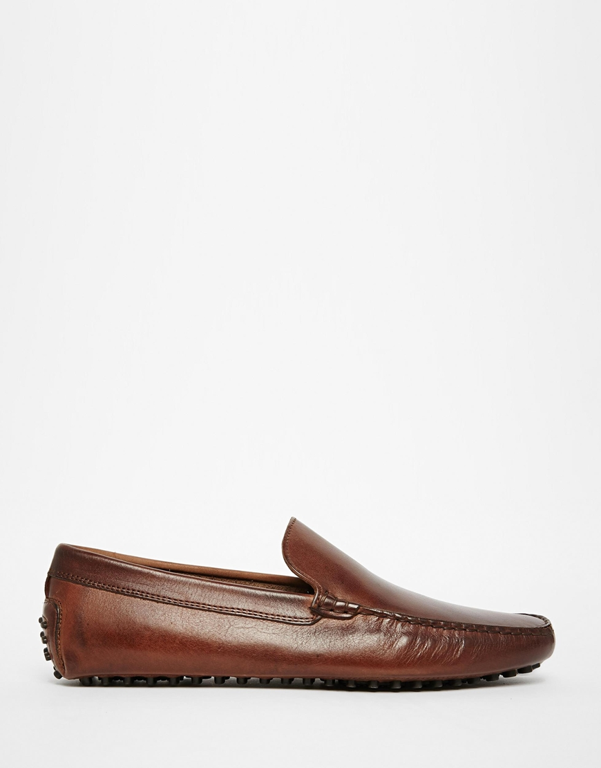 Lyst Aldo Brilicien Leather Driving Shoes In Brown For Men