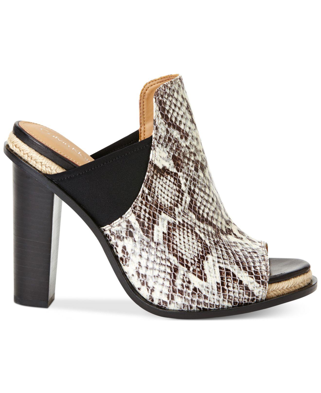 Lyst Calvin Klein Women S Peggy Slides Sandals