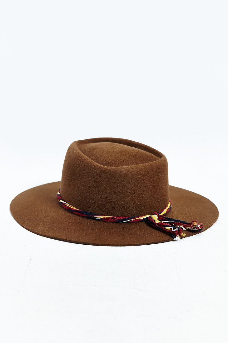 Lyst - Brixton Petty Fedora in Brown for Men bc77caf7f6b