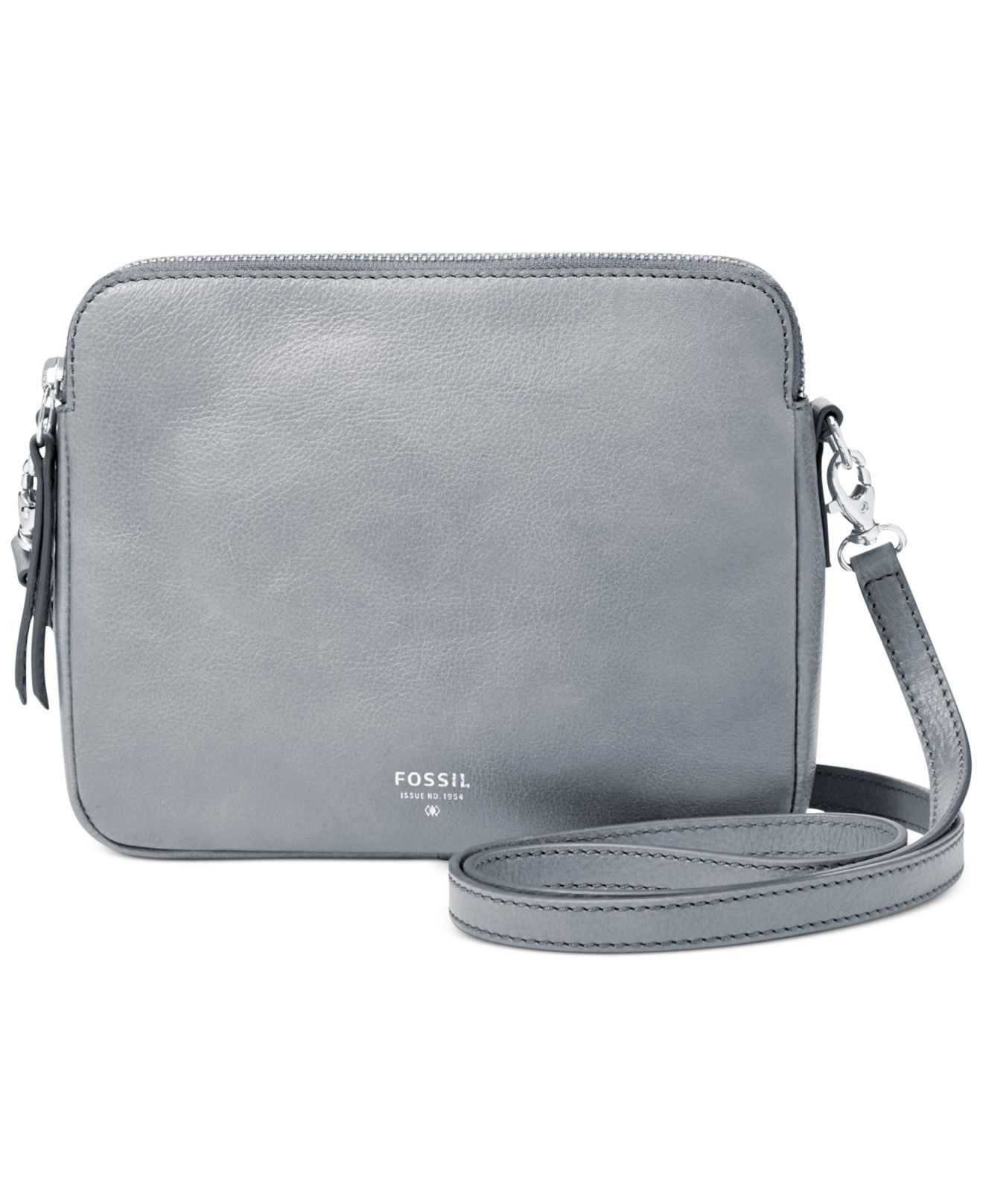 Lyst Fossil Sydney Leather Crossbody In Blue Tessa Satchel Gallery