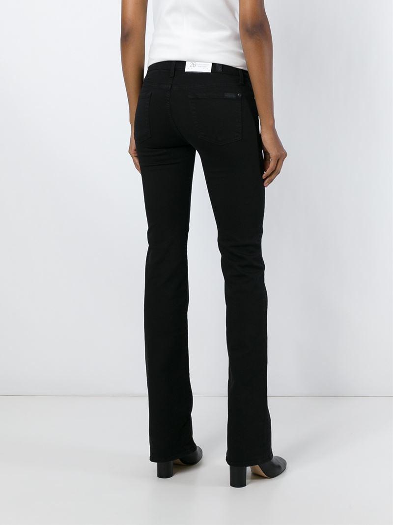Black Slim Bootcut Jeans