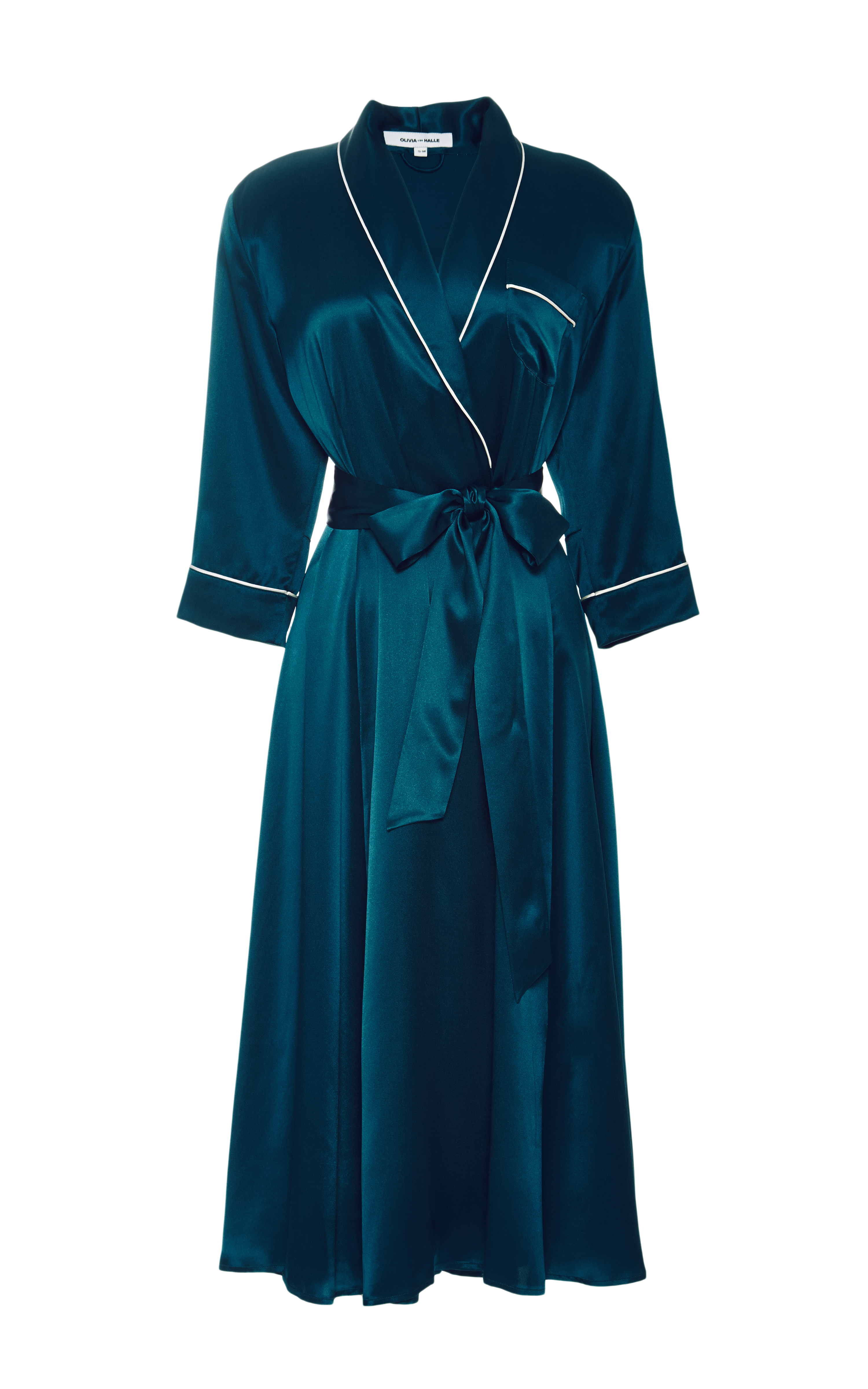 Lyst - Olivia Von Halle Forest Green Anoushka Robe in Green