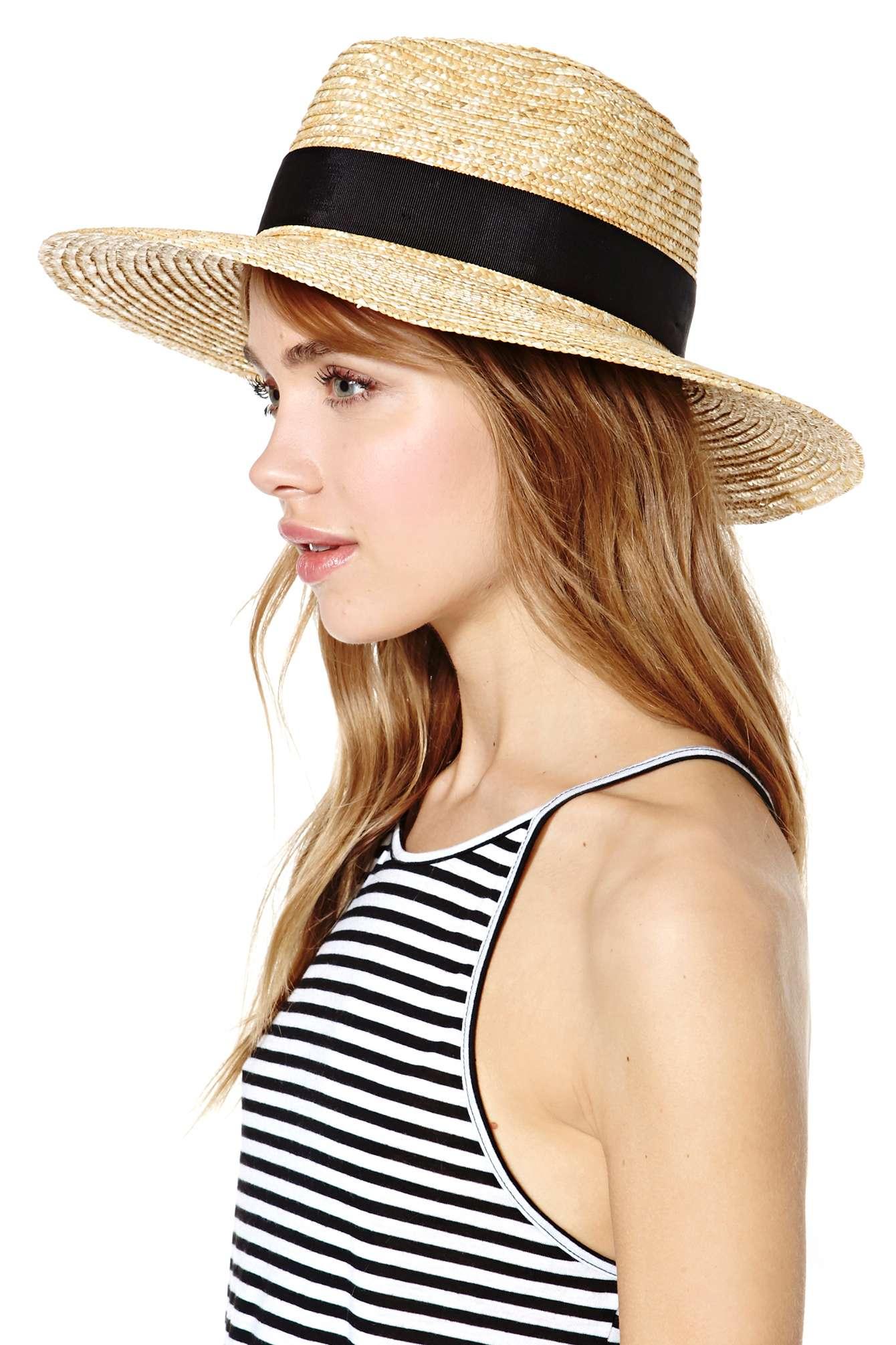 dd407a87140d5 Nasty Gal Brixton Joanna Hat in Black - Lyst