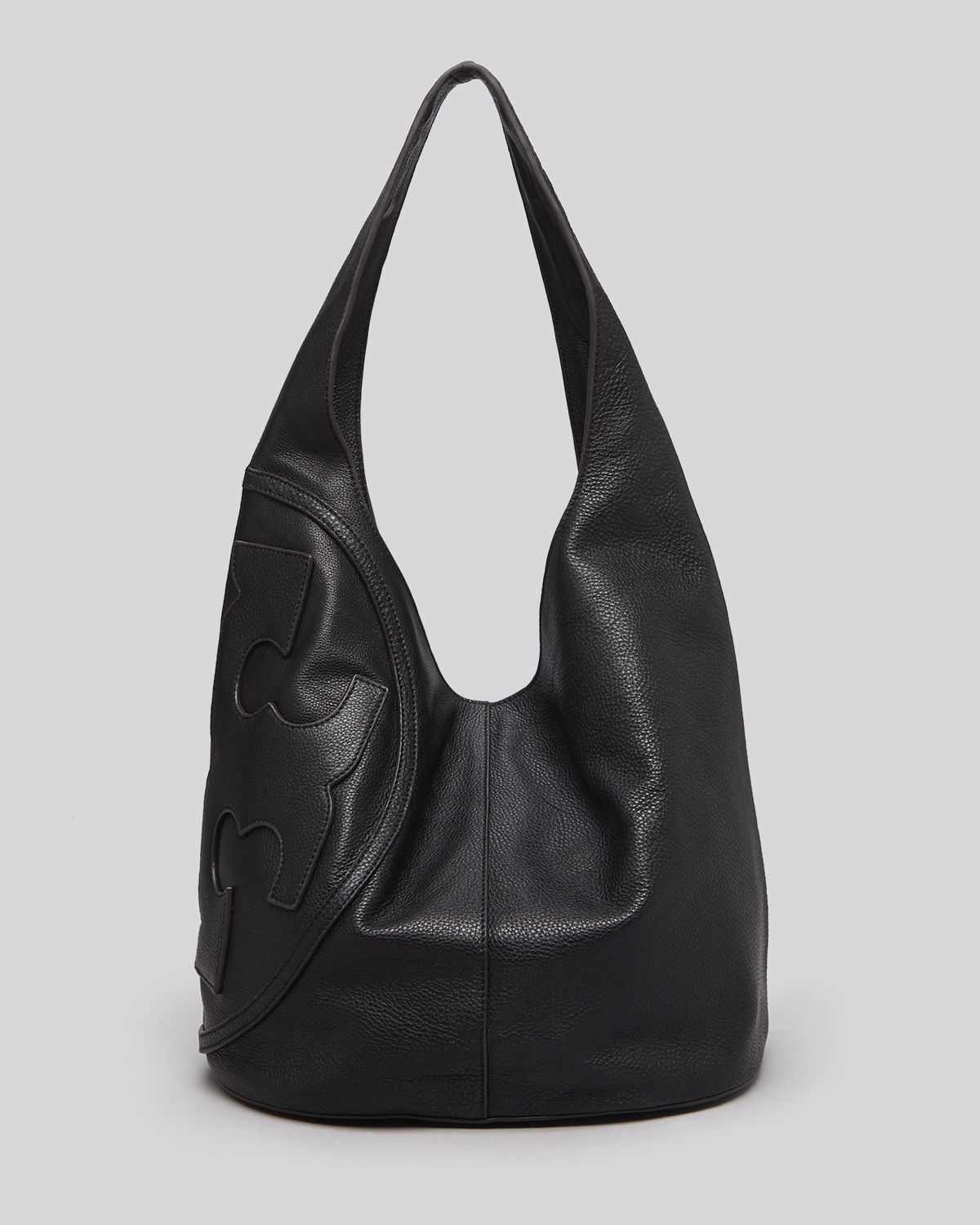 Lyst Tory Burch All T Leather Hobo In Black
