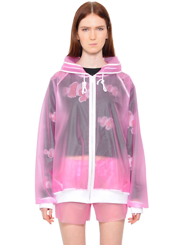 Vinti Andrews Latex Jacket In Pink Lyst