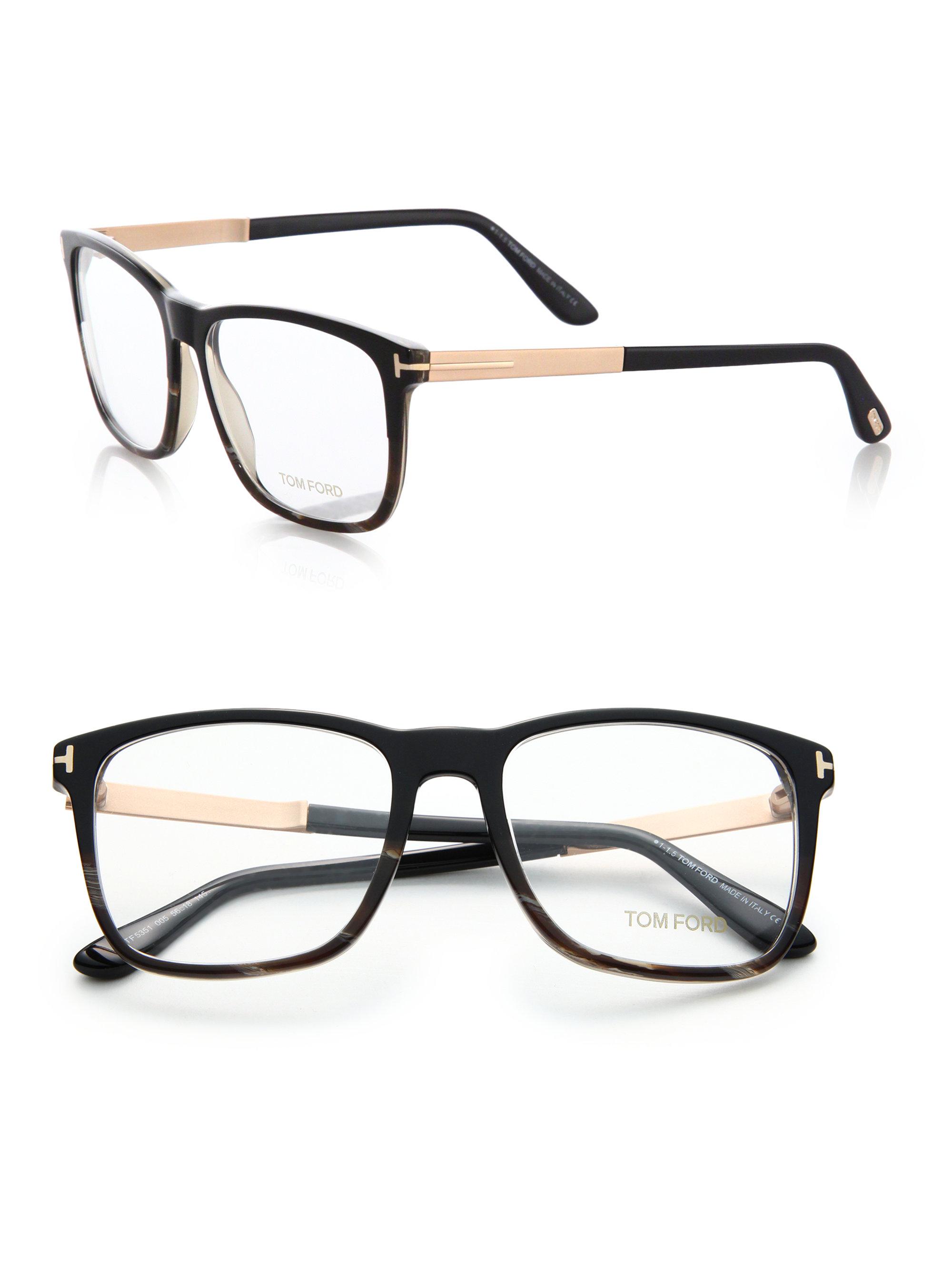 c114582a2f45c Tom Ford Square Optical Frames in Black - Lyst