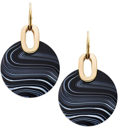 michael kors black city disc agate earrings lyst. Black Bedroom Furniture Sets. Home Design Ideas