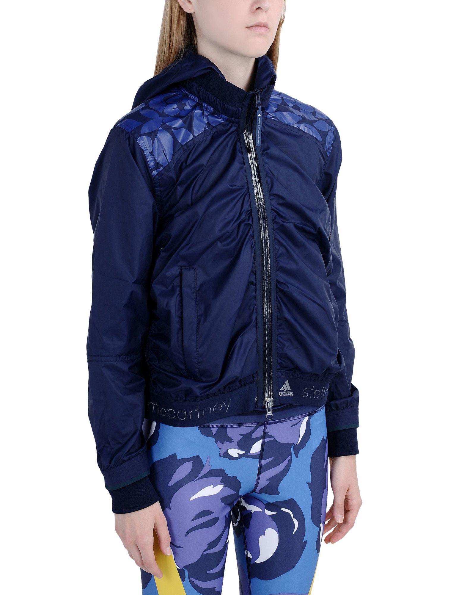 adidas by stella mccartney jacket in blue dark blue lyst. Black Bedroom Furniture Sets. Home Design Ideas