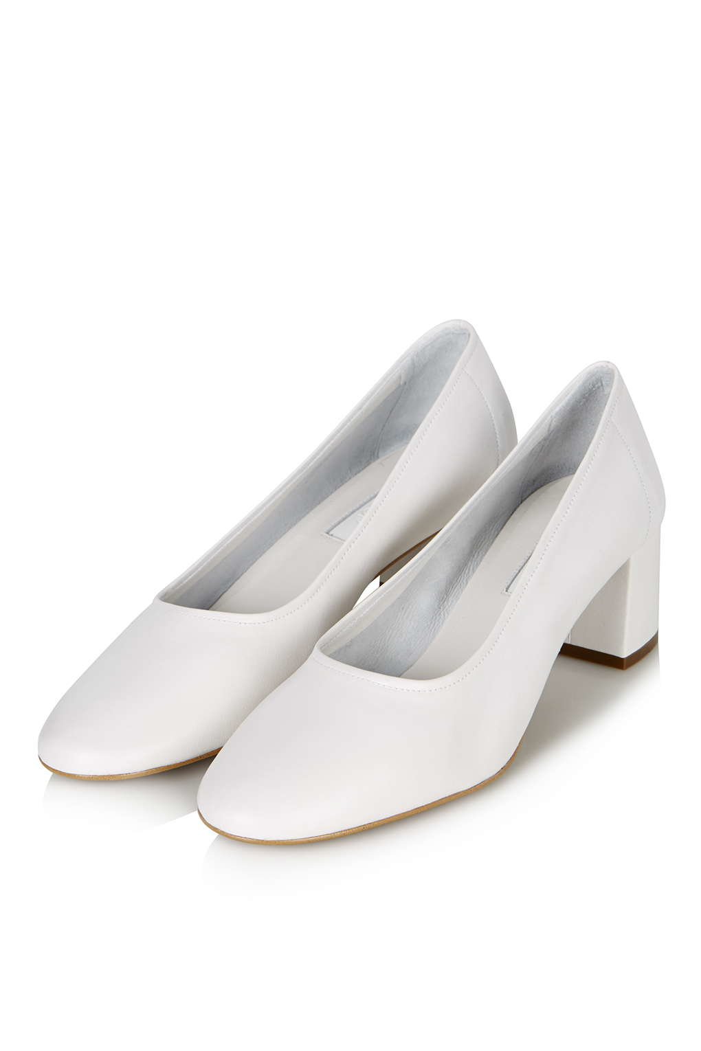 Lyst Topshop Juno Soft Glove Mid Shoes In White