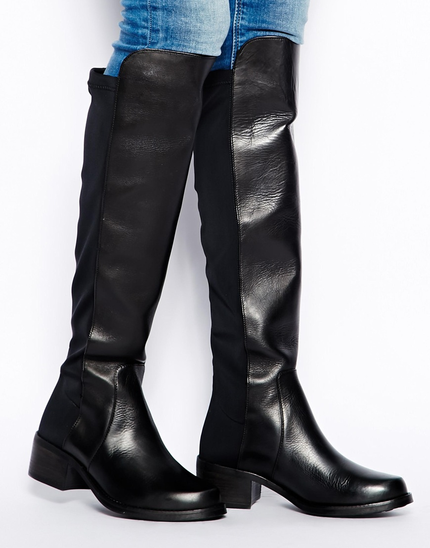 Ladies Black Wedge Shoe Boots
