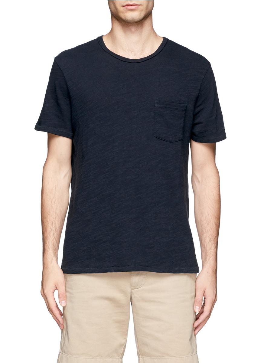 Lyst Rag Bone Chest Pocket T Shirt In Blue For Men