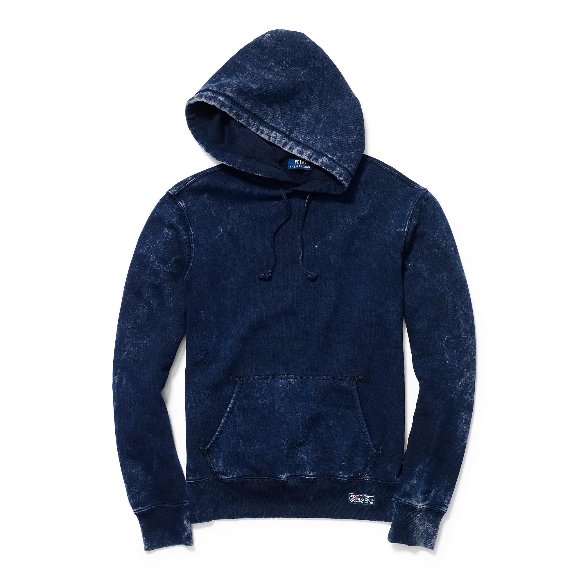 7e1d855e2 Polo ralph lauren Cotton-blend-fleece Hoodie in Blue for Men | Lyst