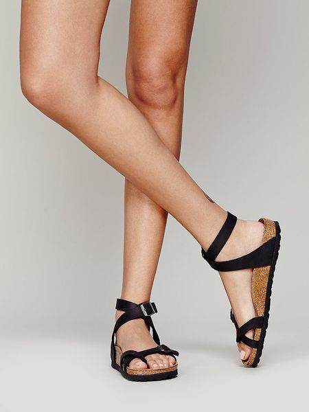 Free People Yara Leather Sandals In Black Lyst
