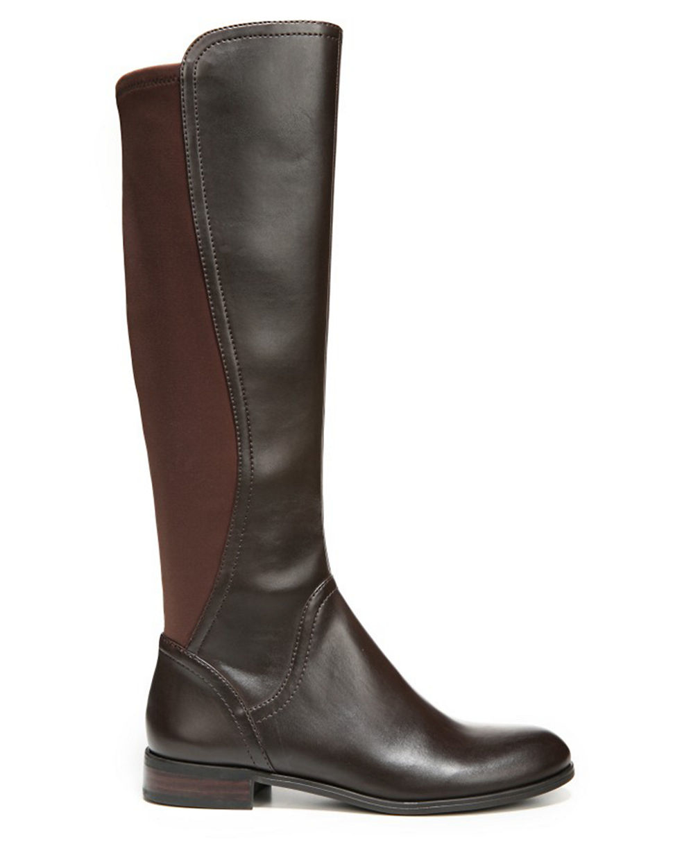 franco sarto maleni knee high stretch faux leather boots