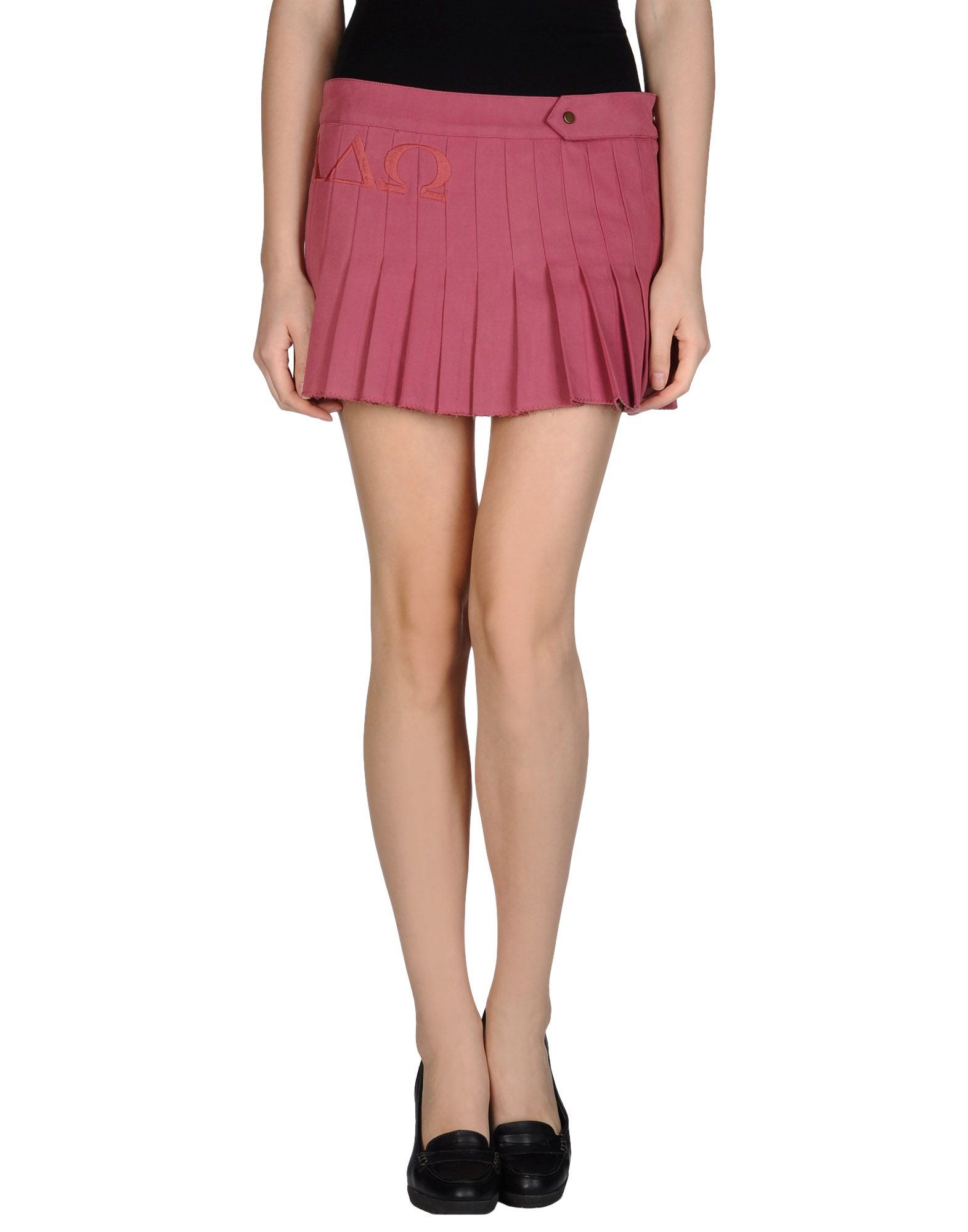 Dondup mini skirt in pink pastel pink lyst