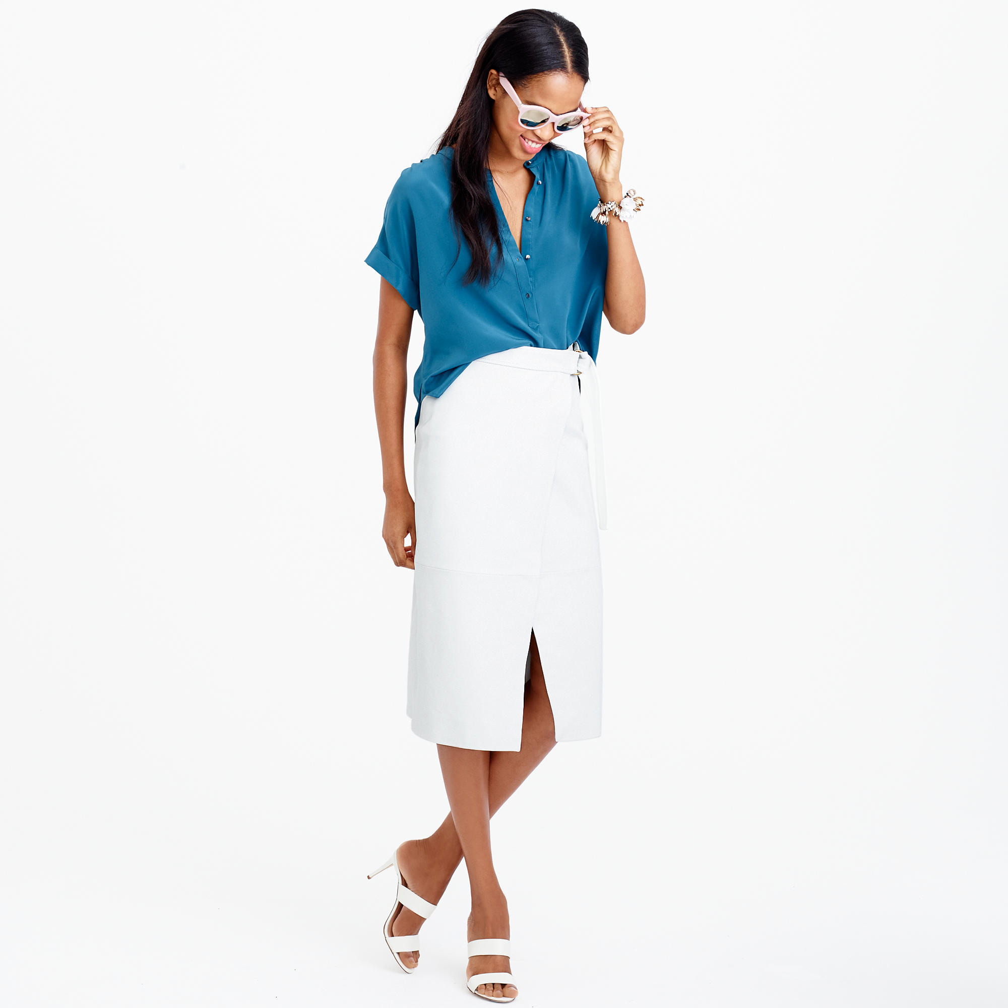 White Wrap Skirt