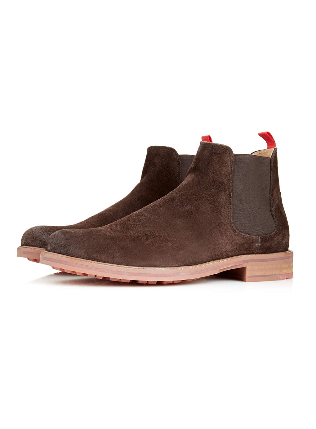 ben sherman brown suede chelsea boots in brown for lyst