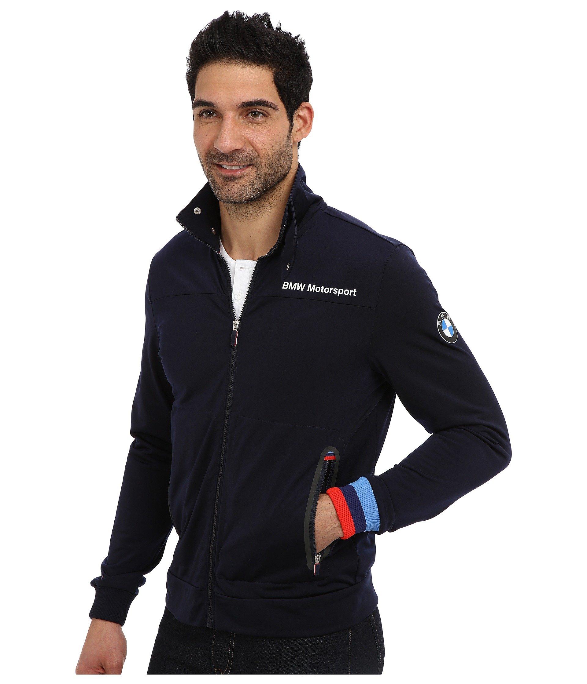 puma bmw msp track jacket in blue for men lyst. Black Bedroom Furniture Sets. Home Design Ideas
