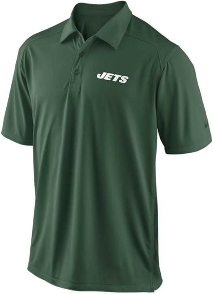Nike mens new york jets football coach polo shirt in green for Soccer coach polo shirt