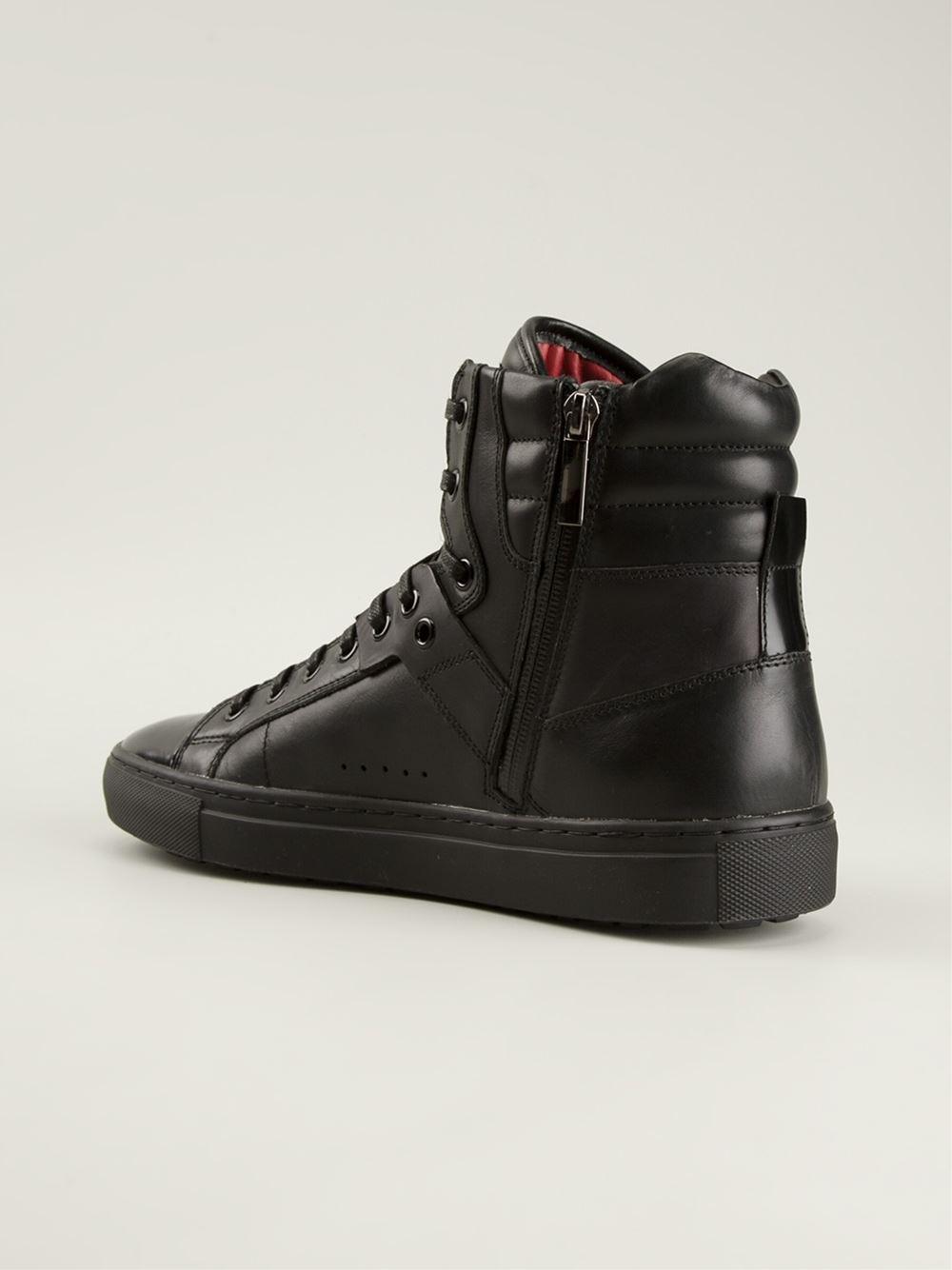 hugo 39 redon 39 hi top sneakers in black for men lyst. Black Bedroom Furniture Sets. Home Design Ideas