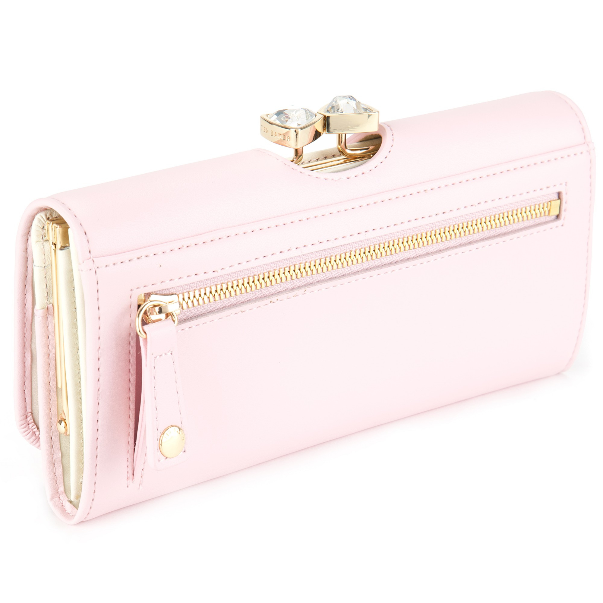 74c334880 Ted Baker Caleena Jewelled Bow Leather Matinee Purse in Pink - Lyst