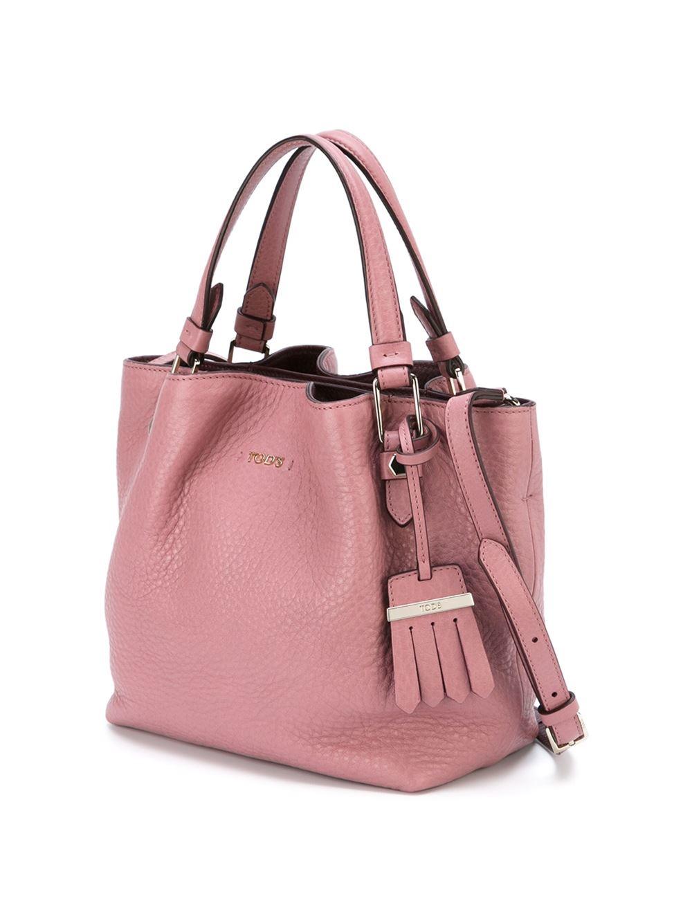 Tod S Flower Mini Shoulder Bag In Pink Pink Amp Purple