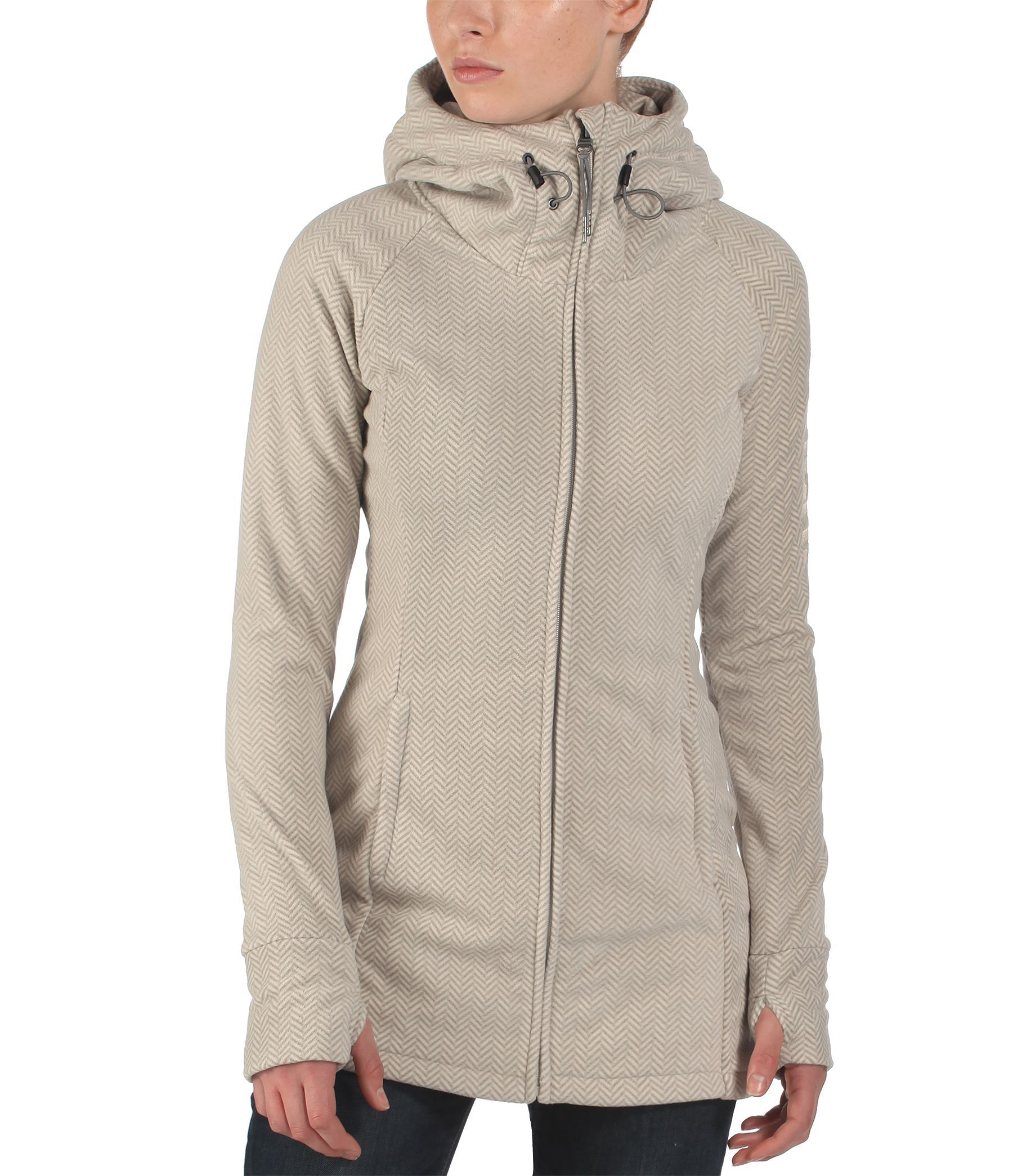 Bench Slinkerton Long Zip Thru Hoodie In Gray Lyst
