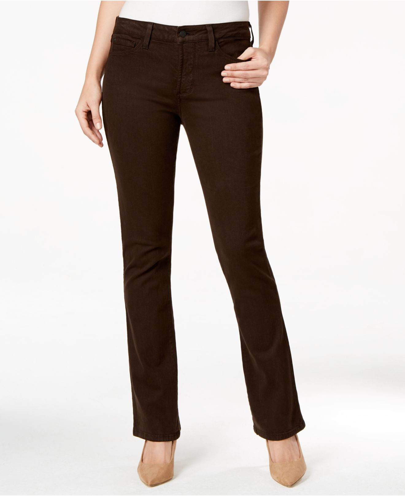Brown Bootcut Jeans - Jeans Am