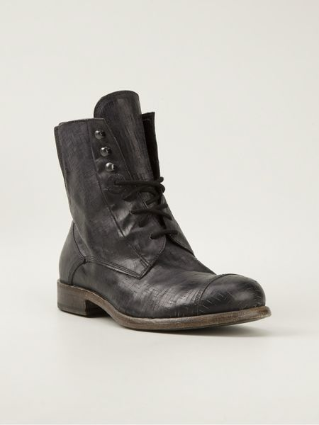 Mens Black And Gold Boots Black Gold Laceup Boot in