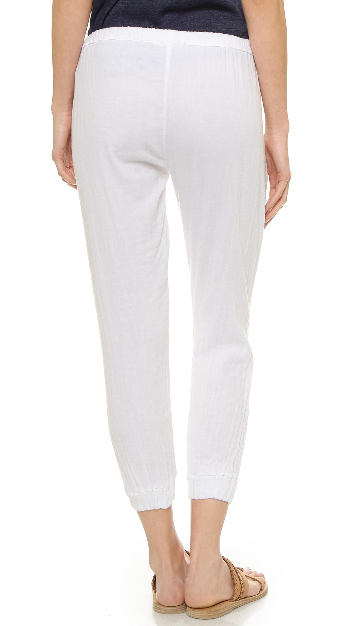 Sundry Gauze Beach Pants - White in White | Lyst