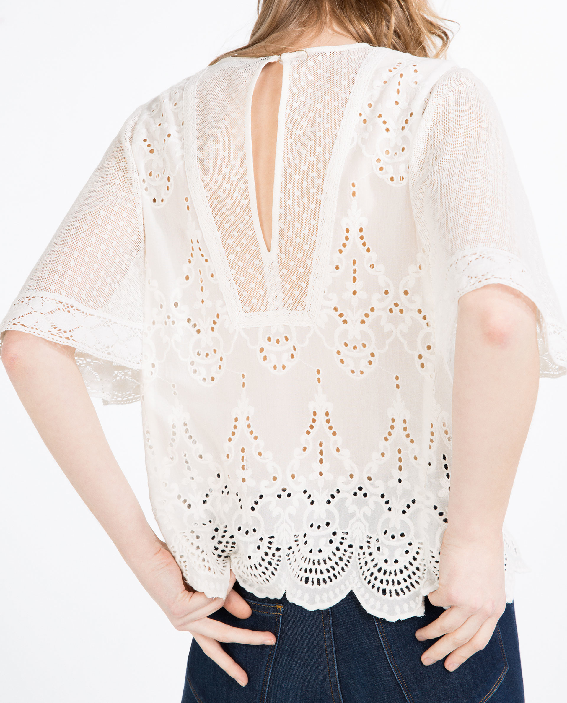 Zara Embroidered Blouse 42