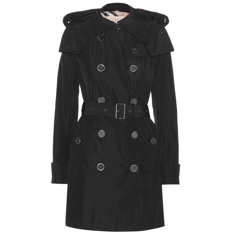 burberry brit balmoral trench coat in black lyst. Black Bedroom Furniture Sets. Home Design Ideas