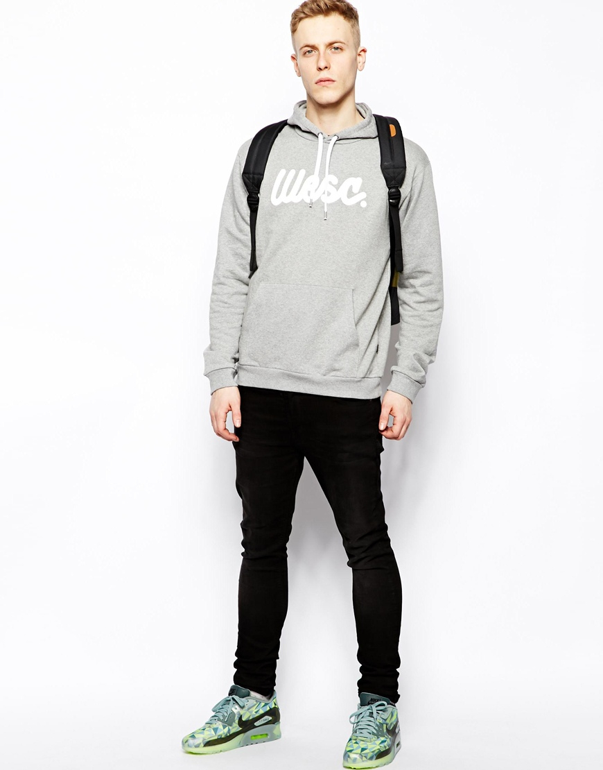 7d6746a4f122 Lyst - Wesc Hoodie with Flow Script in Gray for Men