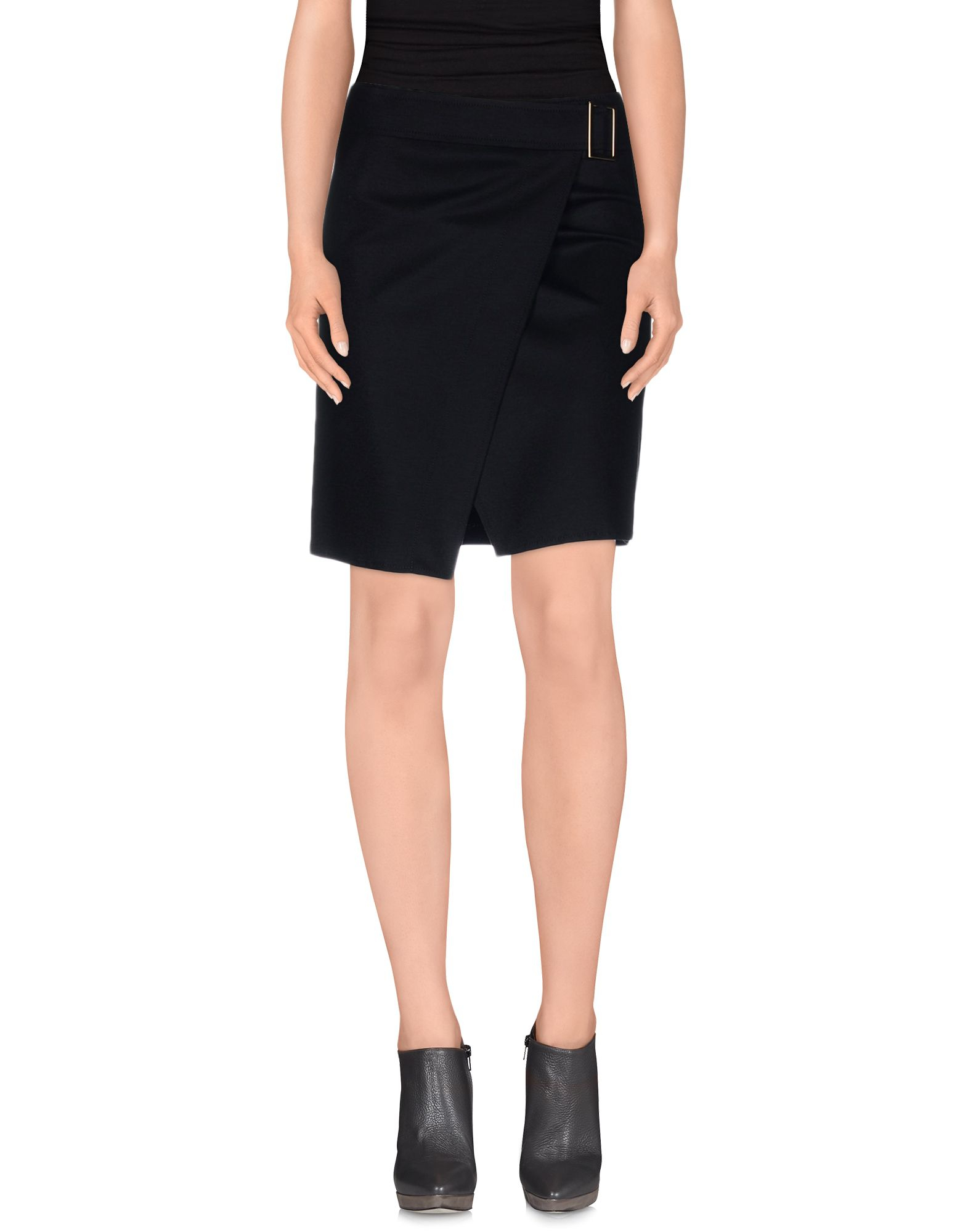 carla g knee length skirt in black lyst