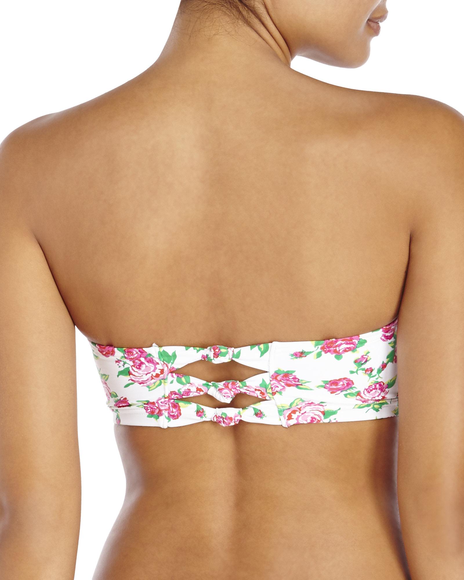 betsey johnson rose bikini