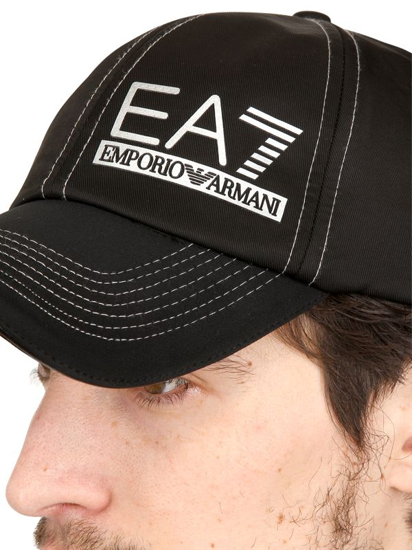 bf2c4f5dd48 Lyst - Emporio Armani Nylon Baseball Cap in Black for Men