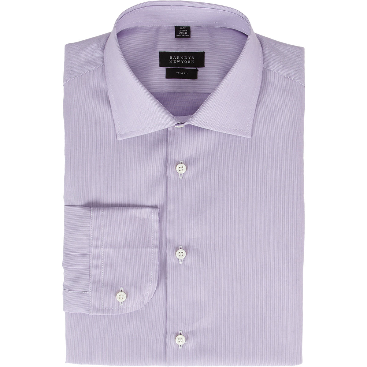 lyst barneys new york fine stripe trim fit dress shirt