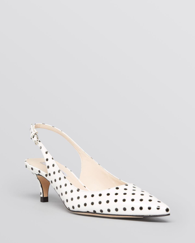 Slingback Shoes Kitten Heel