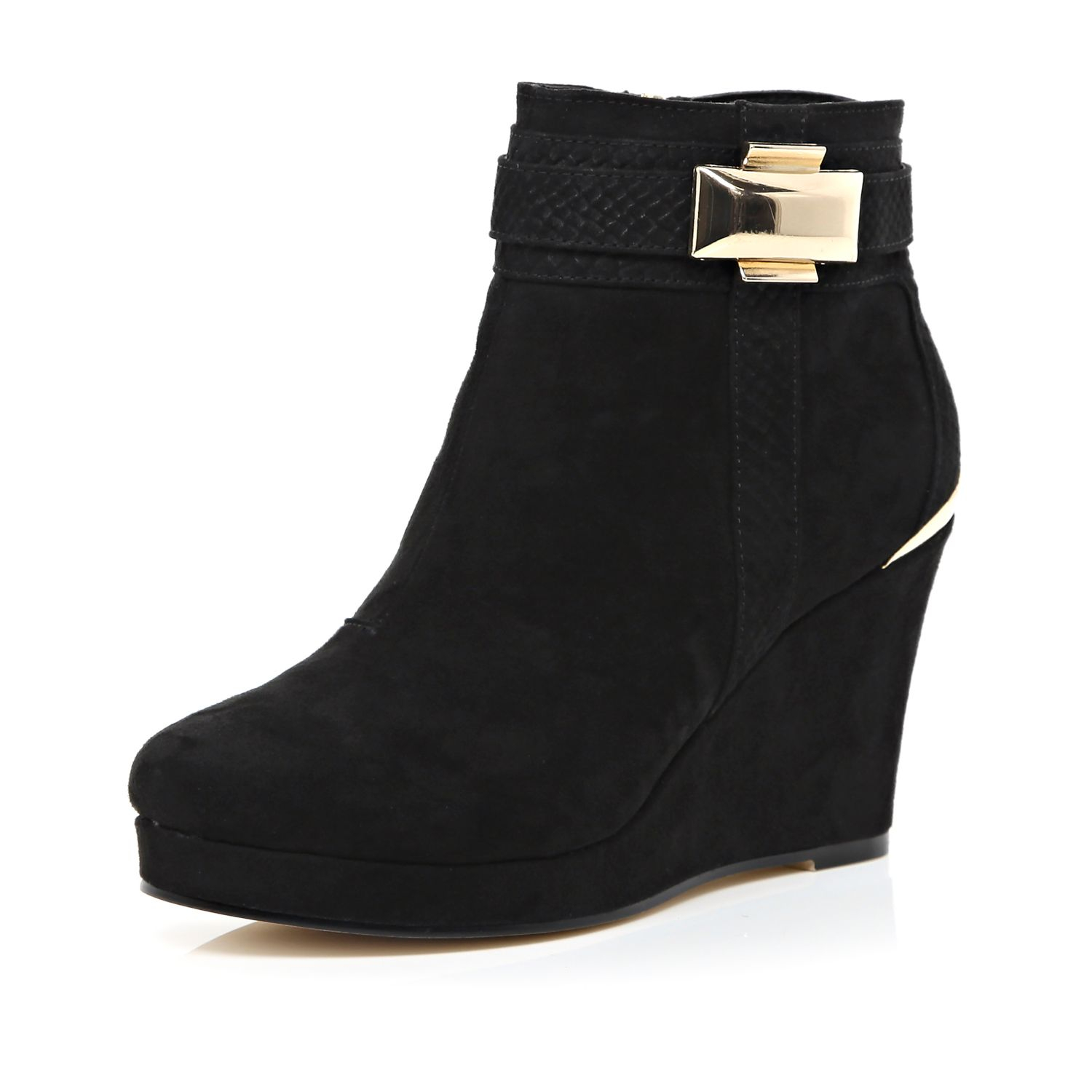 river island black wedge boots | Gommap Blog