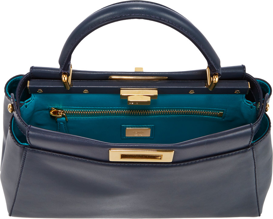 801192329e0f ... reduced fendi peekaboo bag in blue lyst 16506 e9dff ...