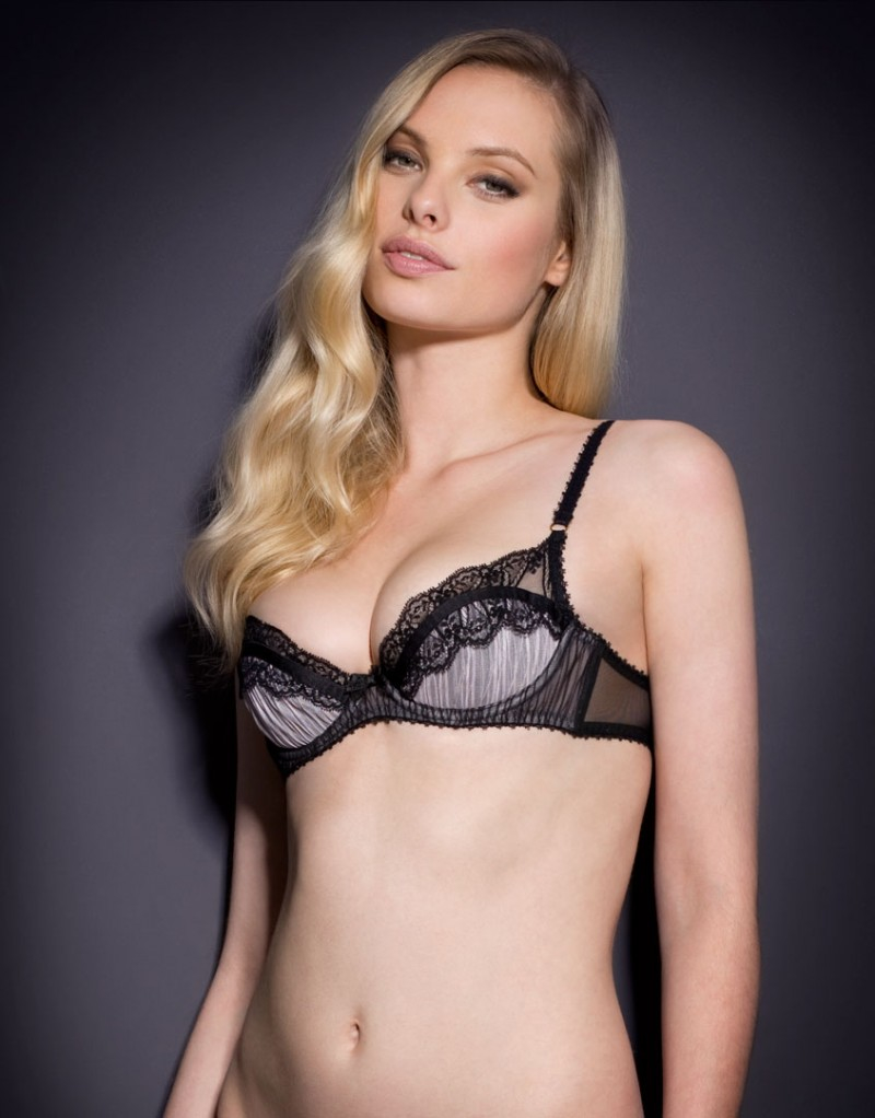 8f6be376adc Agent Provocateur Fifi Bra Black pink in Black - Lyst